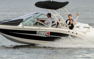 boat hire wedding
