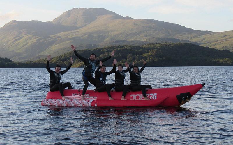 WATER SPORTS: Banana Boat a great way to enjoy Loch Lomond Scenery