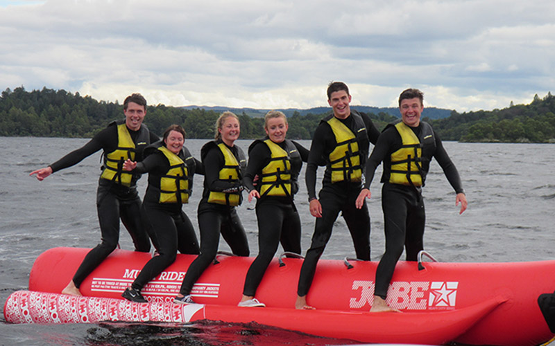 WATER SPORTS: Banana Boat a fun activity