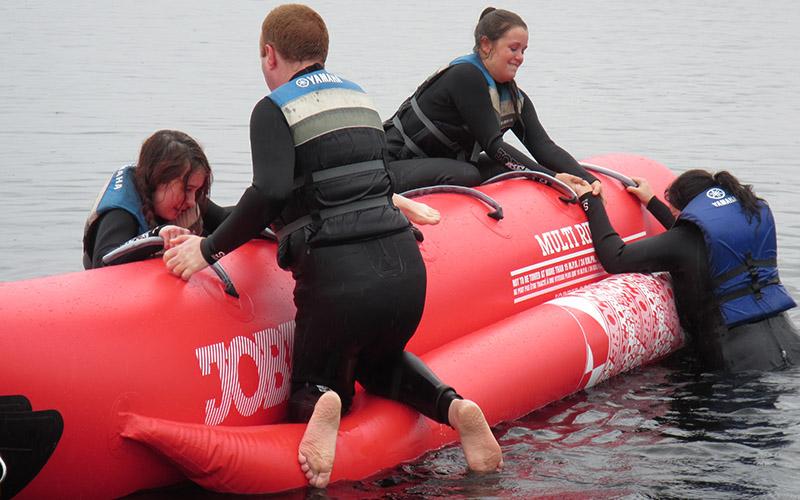 WATER SPORTS: Banana Boat group acitivity
