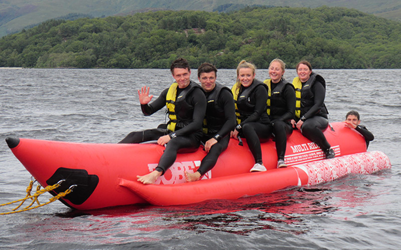 WATER SPORTS: Banana Boat a great way to take in the scenery