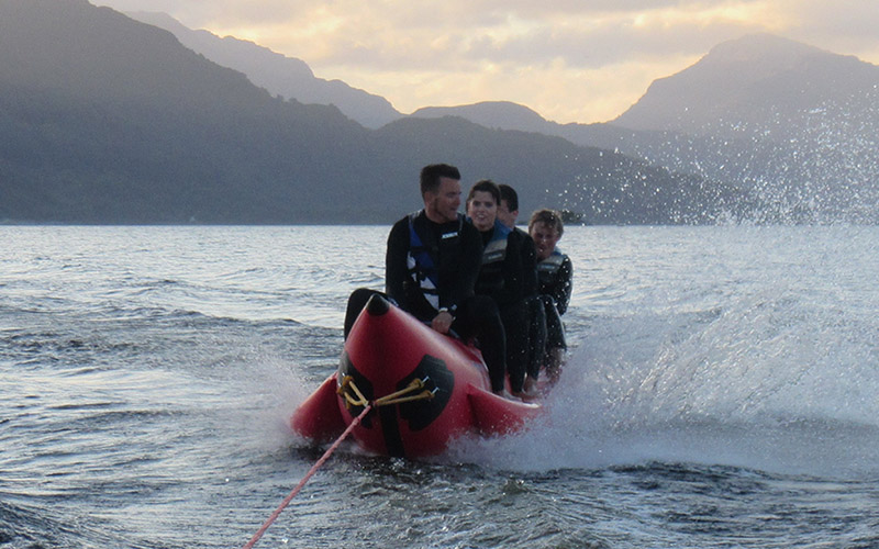 WATER SPORTS: Banana Boat see Loch Lomond at its best
