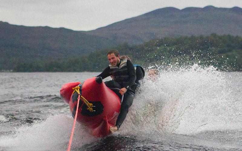 WATER SPORTS: Banana Boat on Loch Lomond