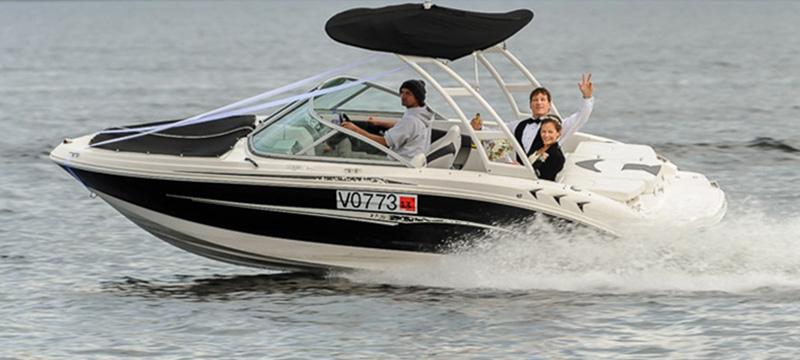 boat hire wedding